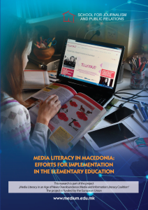 Media and Information Literacy in the Western Balkans